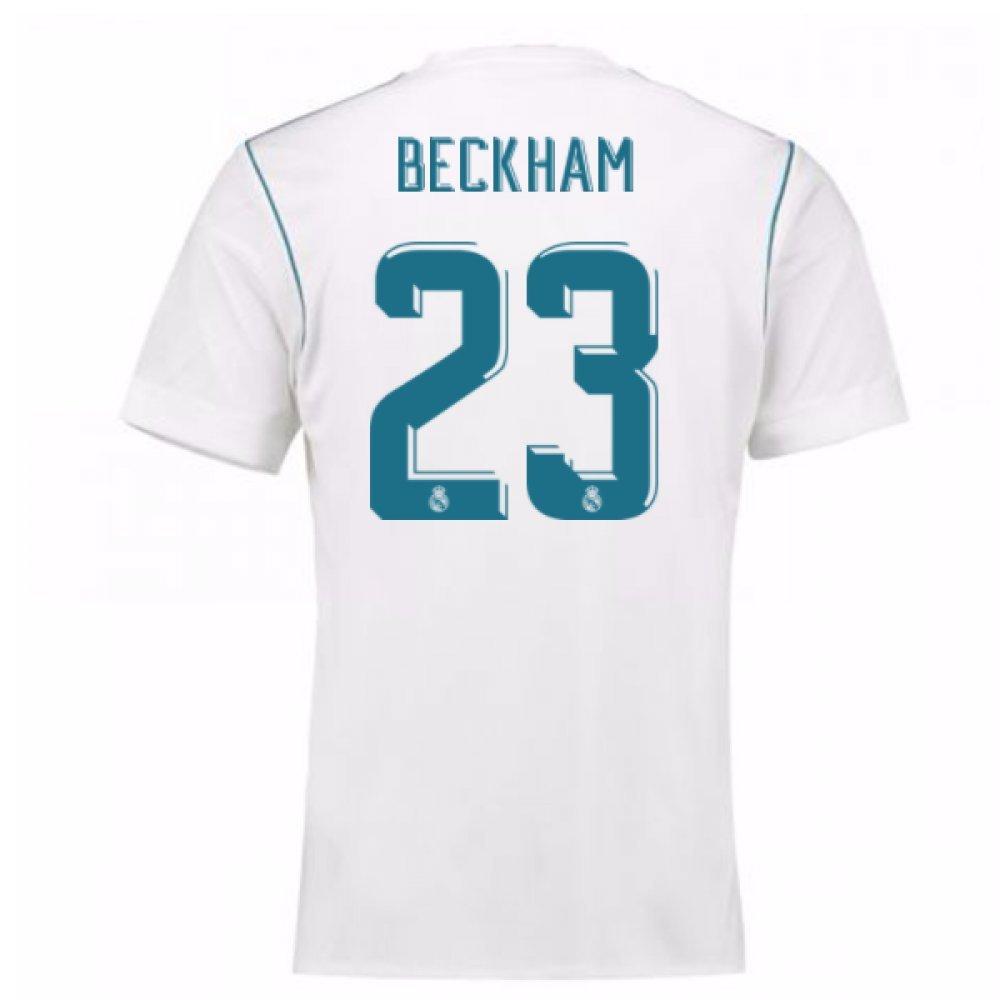 2017-18 Real Madrid Home Shirt (Beckham 23) B0785MZ574White Large 42-44\