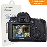 Canon EOS 6D LCD Tempered Glass Screen Protector, BesYee Optical 9H Hardness 0.33mm Ultra-Thin DSLR Camera Tempered Glass for Canon EOS 6D