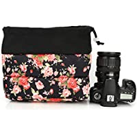 Koolertron Cute Shockproof Partition Padded Camera Bags SLR DSLR TLR Insert Protection Case For DSLR Shot Or Flash Light ,Sony A7 A7S,And So on