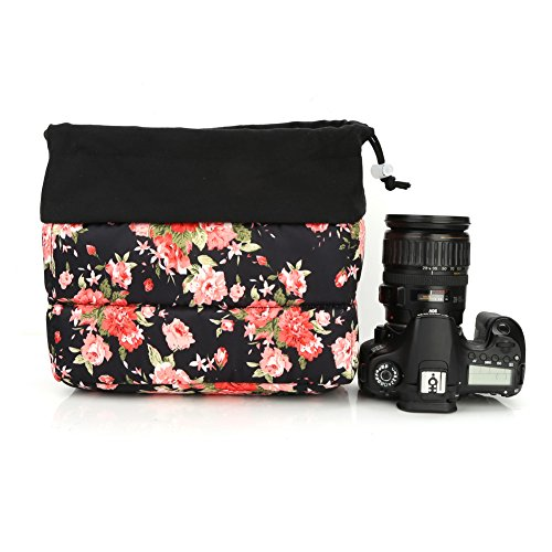 Koolertron Waterproof DSLR SLR Camera Insert Bag Camera Inner Case Bag for Sony, Canon, Nikon, Olympus (Black-07) ()