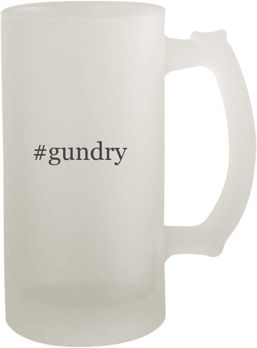 #gundry - Frosted Glass 16oz Beer Stein