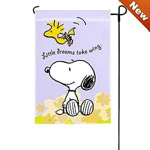 Spring Peanuts Little Dreams Take Wing Garden Flag