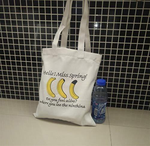 Bandoulière Femme À blanc Main tout Scolaire Fichier Shopping Shanzwh Plage Sac De Fourre Sacs Banane Voyage Toile wHTRYfqnXx