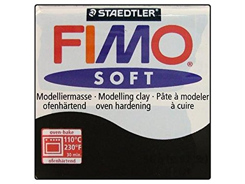 FIMO Soft Modelling Clay 56g Block Black (Block 56g)