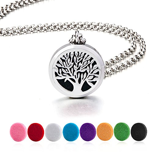 BESTTERN Aromatherapy Essential Diffuser Necklace Stainless