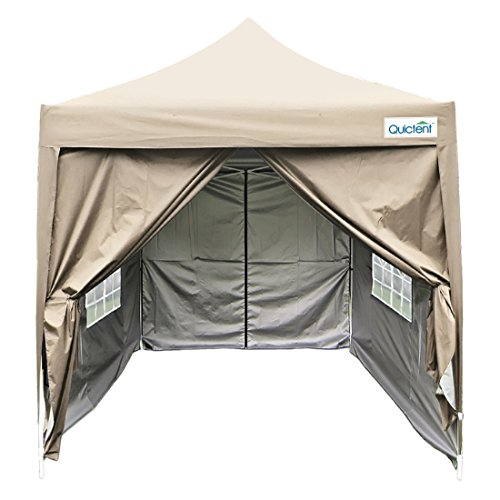 Quictent Silvox Waterproof 6.6'x6.6' EZ Pop Up Canopy Gazebo Party 5-6 persons Tent