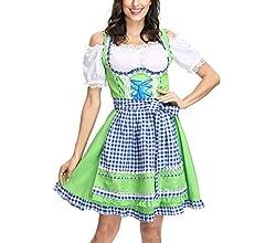 Oyria Disfraz de Sirena de Cerveza bávara, para Mujer, algodón ...
