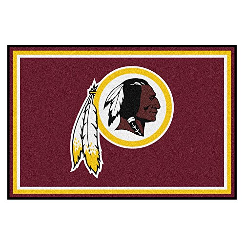 FANMATS NFL Washington Redskins Nylon Face 5X8 Plush Rug