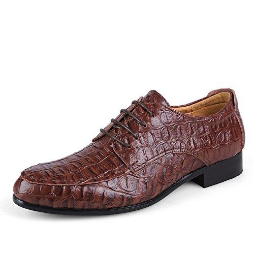 Scarpe Color Casual Men's all'abrasione Marrone classiche coccodrillo Marrone Resistente da 36 Business semplici Dimensione scuro Scuro e Oxford Sunny classiche amp;Baby EU 6wIqX
