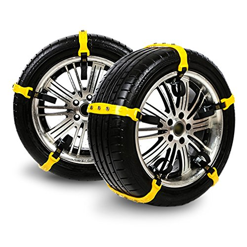 Car Safety Chains Cable Traction Mud Chains Slush Chains Snow Tire Chains All Season Tire Anti-slip Chains for Cars 10PCs for Tire Width:185-225mm