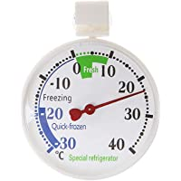 Refrigerator Thermometer Fridge Thermometer,INRIGOROUS Large Dial Fridge/Freezer Thermometer with Hanging Hook and Suction Cup (1 Pack)
