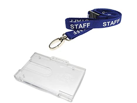 Grey Safety Breakaway Lobster Clip Neck Lanyard with Enclosed Card ID Holder .