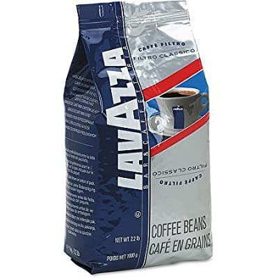 Lavazza Whole Bean Coffee, Filtro Classico Italian House Blend Coffee, 2.2-Pound Bag (Pack of 2)