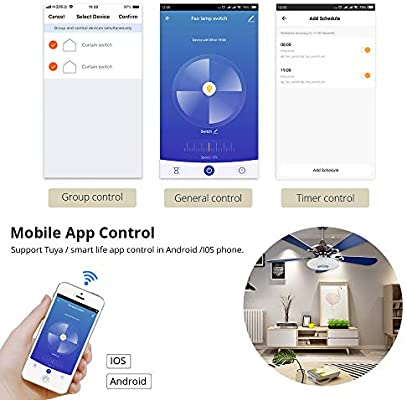 Smart Switch WiFi Wireless Smart Timer Remote Voice Switch para Echo Alexa Google Inicio