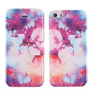 MOFY-Dise–o colorido del humo de la PU caso de cuerpo completo con ranura de la tarjeta para el iphone 5/5s