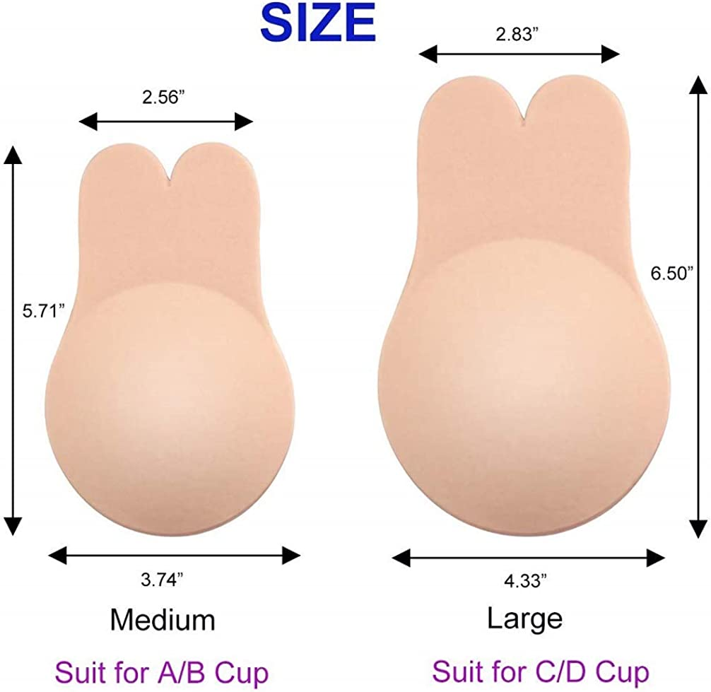 Mitaloo Sticky Bra Push Up Lift Nipple Covers Adhesive Strapless Invisible Backl