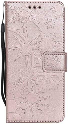P20 Lite ケース手帳型 OMATENTI レザー 革 薄型 財布型カバー カード入れ スタンド機能, 全面保護 おしゃれ 手帳ケース, 液晶保護 Huawei P20 Lite対応, ローズゴールド