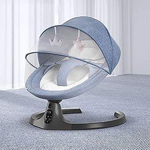 JWDYA Baby Electric Rocking Chair Newborn Baby Sleeping Basket Kids Swing Cardle 0-36month
