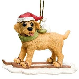 Amazon.com: Skis Golden Retriever Dog Skiier Christmas
