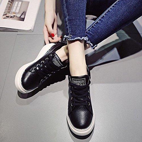 En Tide Rising De Zapato La Salvajes Calzados Caída Nueva Calzado Femeninos De Un Calle Casual 37 Grueso La KHSKX Versión Coreana Los Negro HqnEwUg4xX