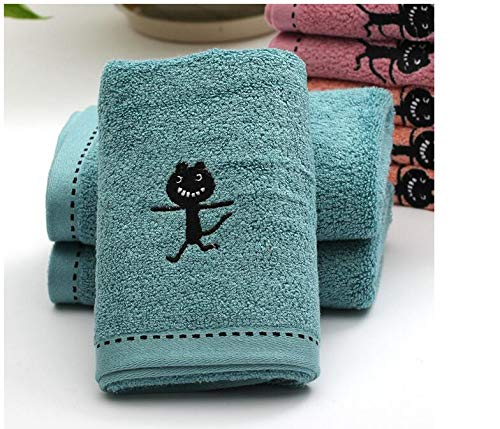 10pcs/lot! Black Cat Pattern Bamboo Fiber Towel Thicken Cotton Towel for Bath &Beach & Gym Use 3474cm by TT&QQ (Image #2)