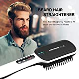 Beard Straightener,Beard Straightener Comb,Hair Straightening Brush for Men and Women(2019) Electrical Heated Irons,Auto Temperature Lock,Anti Scald Auto,For Home and Travel