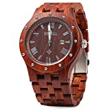 Bewell Big Case Luxury Red Sandalwood Watches Japan Review and Comparison