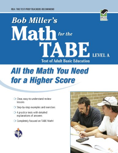 Bob Miller's Math for the TABE Level A (GED Test Preparation)