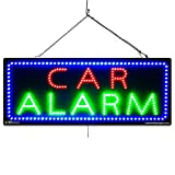 Large LED Window Auto Business Sign - CAR Alarm - Extra Bright LEDs - Can Be Seen Through Tinted Windows - Extra Large - 32 inches Wide (#1016)