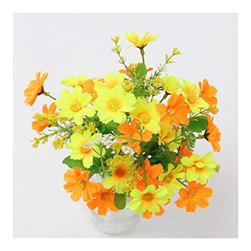 King Boutiques Artificial Flowers One Bouquet 7 Branch 28 Heads Cute Silk Daisy Artificial Decorative Flower Wedding Flower Bouquet Home Room Table Decoration (Color : K1) from King Boutiques