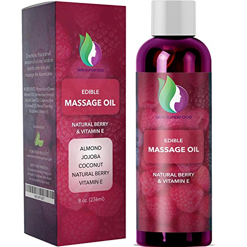 Female Sexual Oil - Massage Therapy Oil For Sex + Edible Erotic Massage - Anti-Aging Hydrating Aromatherapy Sensual Body Oil For Women + Men With Coconut Almond Jojoba & Vitamin E - Therapeutic Massage Oil For Muscles