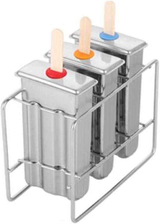 Cubitos de hielo reutilizables Juego de moldes for paletas, herramienta de bricolaje de cabeza plana de acero inoxidable Barra de moldes for helados Molde for helados Moldes for helados Moldes for pal: