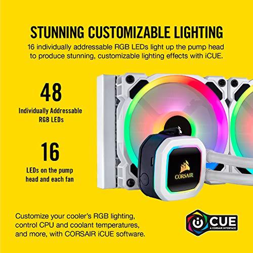 CORSAIR H100i RGB PLATINUM SE AIO Liquid CPU Cooler,240mm