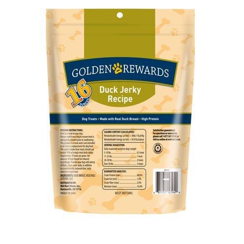 Golden Rewards Duck Jerky Dog Treat, 16 oz