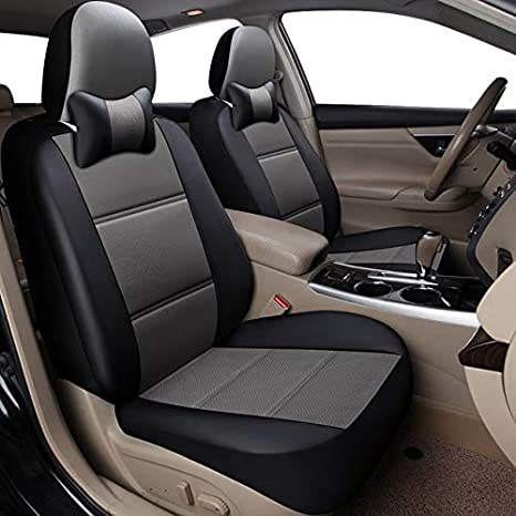 Swell Amazon Com Beesclover Yuzhe Universal Auto Leather Car Seat Spiritservingveterans Wood Chair Design Ideas Spiritservingveteransorg