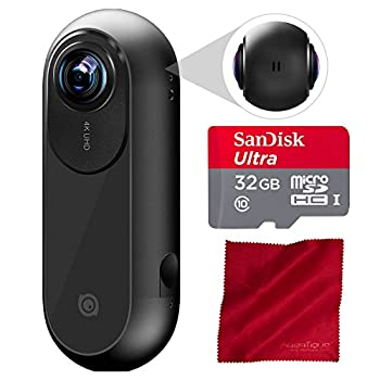 Image of Accessory Bundles Insta360 ONE Action Camera for iOS with Professional 32 GB MicroSD Card & Fibertique Cleaning Cloth