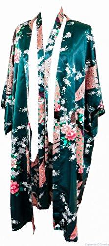 Scuro Pavone Sposa Da Kimono E Abbigliamento Green Stampa Colori Fiorni Peacock dark Verde Notte 16 Femminile Intimo In Vestaglia Donna Cccollections Biancheria TPnqYT