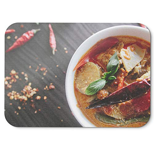Westlake Art - Food Curry - Mouse Pad - Non-Slip Rubber Picture Photography Home Office Computer Laptop PC Mac - 8x9 inch (D41D8)