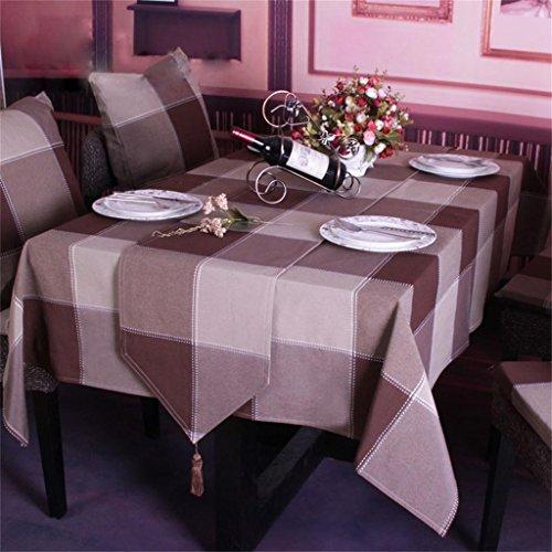 Royal-European minimalist dining table flags dyed plaid tablecloths