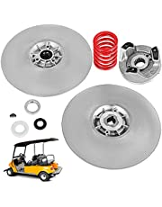 Bestauto Golf Cart Secondary Driven Power Clutch Kit Metal Surface Drive Clutch 1985-2007 Driven Clutch Kit Compatible with Yamaha Low End G2-G22 Golf Cart (with Spring)