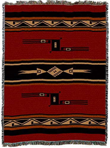 Pure Country Weavers | Mesquite Earth Blanket | Woven Throw with Fringe Cotton USA 72x54
