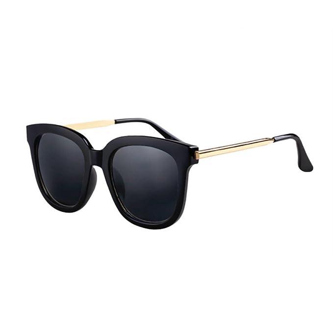 Gafas De Sol Polarizadas Vintage De Las Mujeres Gafas De Sol Negras Cuadradas De Gran Tamaño
