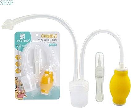 Bebé aspirador nasal con pinzas y cepillo de limpieza, nariz limpiador nariz Sucker para bebés recién nacidos nariz – Alivia seguro de congestión nasal, 2 de aspiración con bomba o boca: Amazon.es: