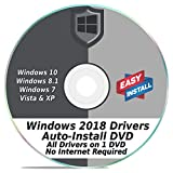 Windows Driver Software 2018 Automatic Easy Install Updater DVD Disc for Windows 10, 8, 7, Vista, XP   Full Computers Support Dell HP Toshiba Sony Asus Lenovo Gateway Acer etc.
