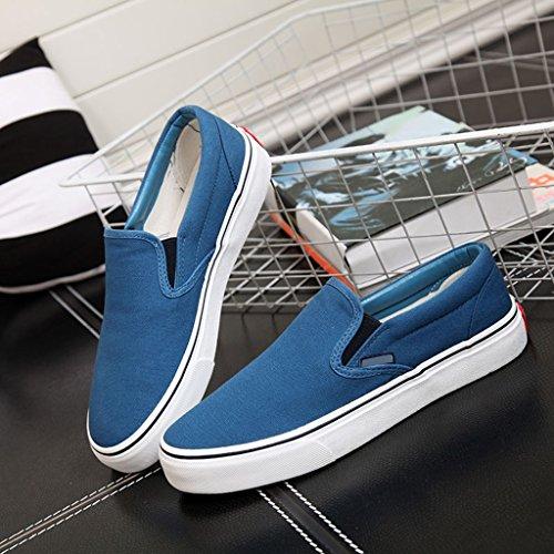 a YaNanHome uomo Scarpe tendenza scarpe Brown semplici scarpe di Size Scarpe 42 Blue basse piatte coreano da Color pedali Espadrillas tela casual stile rxnzqCr