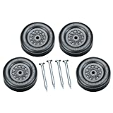 Revell Pinewood Derby Officially Licensed Boy Scouts of America (BSA) Wheel and Axle Set, Black