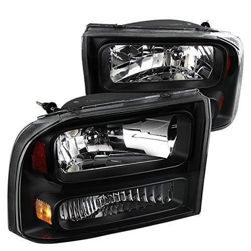 Piece Euro 1 Headlights (Spec-D Tuning 2LH-F250991PCJM-ABM Black Headlight (1-Piece Euro))