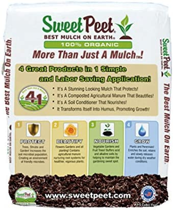 Amazon Com Sweet Peet North America 1 5cf Mulch Nutrient