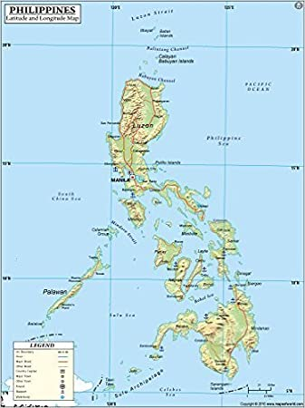 Map Of The Philippines With Latitude And Longitude Philippines Latitude and Longitude Map (36