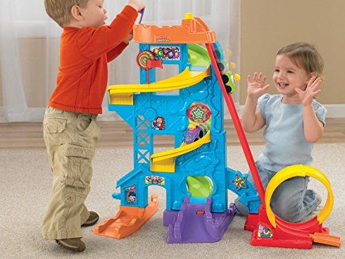 51ldtUkBbML - Fisher-Price Little People Loops 'n Swoops Amusement Park [Amazon Exclusive]